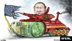 Карикатура на украинския художник Олексий Кустовски