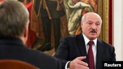 Лукашенко на переговорах с Путиным