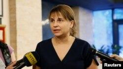 Directoarea executivă a companiei Intellect Servicie, Olesia Bilousova comentînd la 5 iulie atacul cibernetic mondial