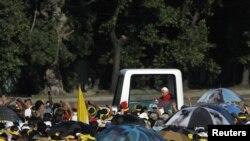Папа Римский Бенедикт XVI на площади Революции в Гаване