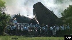 На месте падения самолёта в Джакарте
