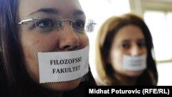 Protest na Filozofskom fakultetu u Sarajevu, 23. april 2012.