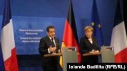 Angela Merkel și Nicholas Sarkozy la Freiburg
