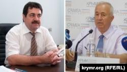  «Devlet şurası» vitse-spikeri Remzi İlyasov (soldan) ve «Qırım birligi» teşkilâtınıñ reisi Seytumer Nimetllayev