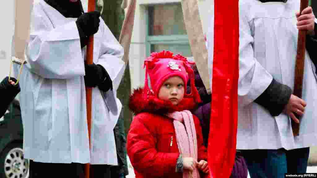 An Easter procession in Minsk, Belarus.