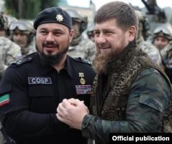 Chechen leader Ramzan Kadyrov (right)
