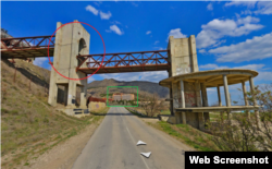The bridge near the village of Morske in Crimea (screenshot from Yandex.Maps)