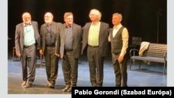 A Kaláka és Bogdán Zsolt Kányádi estje a Nemzeti Színházban 2020. március 9-én.