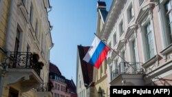 Российское посольство в Таллинне, столице Эстонии.