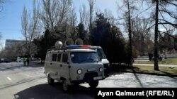 Место проведения митинга в Алматы. 27 марта 2021 года.