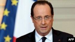 Франция Президенти Француа Олланд.