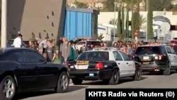 Эвакуация школы в Санта-Кларите.