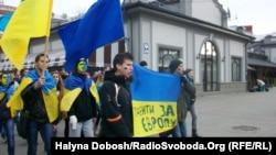 Студентський Євромайдан в Івано-Франківську, 28 листопада 2013 року