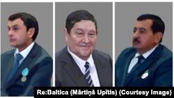 MXX raisi Rustam Inoyatov, uning o'rinbosari Hayot Sharifxo'jaev (ch) va Interpol rahbari Yuriy Savinkov. (Rassom Martinsh Upitis)