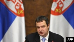 Serbia -- Prime Minister Ivica Dacic speaks during a government session in Belgrade, 08Apr2013