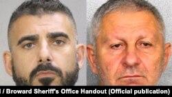 Затрыманыя ўЗША Веньямін Галынкін (справа) іАнры Шушан, фота Sun Sentinel / Broward Sheriff's Office Handout