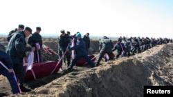 Похороны украинских неопознанных солдат. Днепропетровск.
