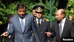 Mihail Saakashvili și Traian Basescu la Cotroceni