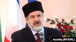 Қырым татарлары басшысы Рефат Чубаров. 25 қаңтар 2014 жыл.