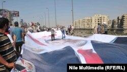 Pristalice zbačenog predsednika Mohameda Morsija na protestu u Kairu, 26. jul 2013.