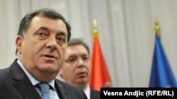 Milorad Dodik i Aleksandar Vučić u Beogradu, ilustrativna fotografija