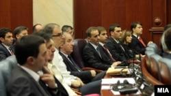 Седница на Собранието на Македонија за избор на нова Влада.