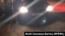Автомобиль, на котором забирали родственников подсудимых в РОВД