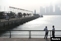 Порт Циндао накануне саммита Шанхайской организации сотрудничества. 5 июня 2018 года.