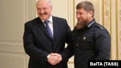 Президент Белоруссии Александр Лукашенко и глава Чечни Рамзан Кадыров