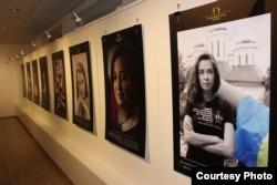 Виставка «Правозахисниці: обличчя сили» в Американському домі в Києві, яка триватиме там до кінця липня. Фото надане Освітнім домом прав людини у Чернігові