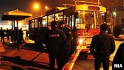 Incidentet ndëretnik i ndohur në autobus, Shkup 2013.
