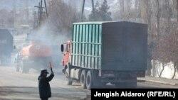 Доставка гуманитарной помощи в анклав Сох. 25 января 2013 года