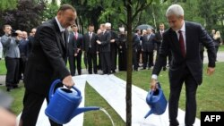 Tadiç və Əliyev ağac əkirlər. 8 iyun 2011