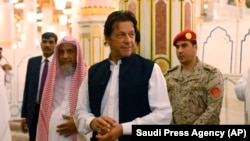 Pakistani Prime Minister Imran Khan on his visit last month to Saudi Arabia.