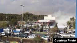 Protests over gas price hike in Shiraz, Iran, November 16, 2019