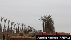 Xəzər Adalarının tikintisindən fotolar