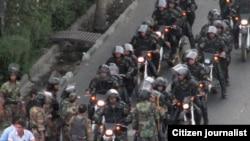 نیروهای امنیتی در روز ۱۸ تیر در تهران