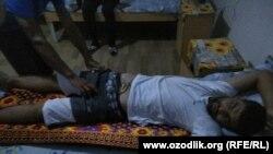 Бунёд Сапаев в Шаватской районной больнице.