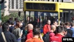 Protest navijača u Sarajevu, 05. oktobar 2009.