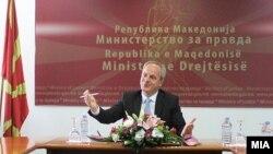 Министерот за правда Аднан Јашари