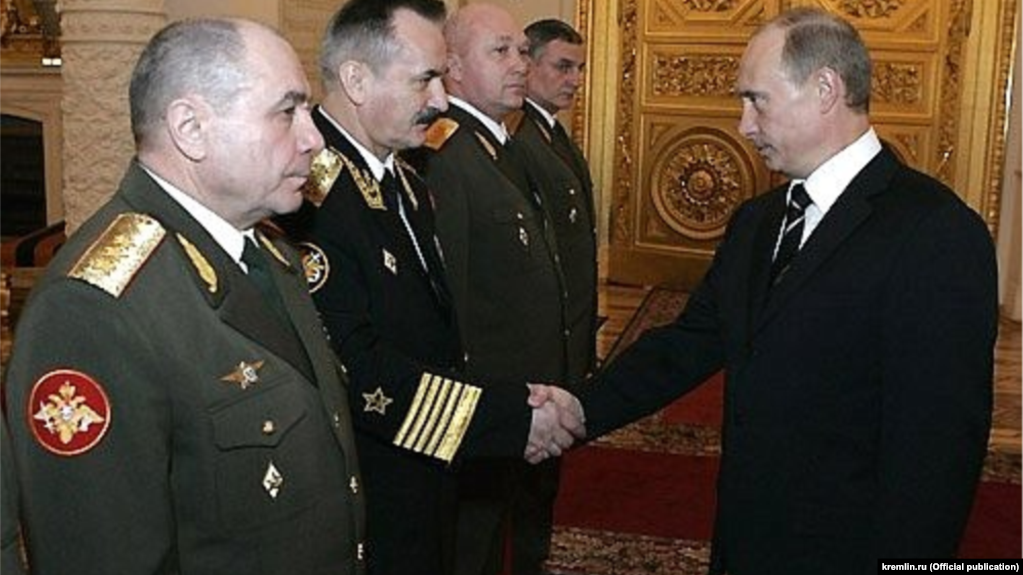 Генерал-полковник Николай Ткачев (крайний слева) на приеме в Кремле, 2007 год.