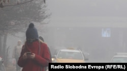 Смог в столице Македонии Скопье, декабрь 2018 года.