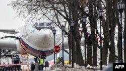Аэропорт Внуково 2, самолет Ил-96 c российскими дипломатами