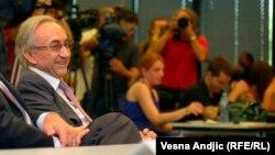 Miroslav Mišković na konferenciji za novinare, Beograd, 25. juli 2013.