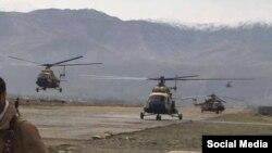 Бадахшандагы аскердик тик учактар.