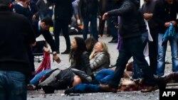 Pamje pas sulmit të 19 marsit 2016 në Stamboll