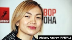Актриса Салтанат Наурыз. Алматы, 19 қараша 2014 жыл.
