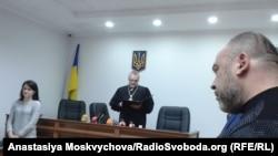 Суддя оголошує вирок у справі про напад на журналіста газети «Вєсті» В'ячеслава Веремія, 22 грудня 2017 року