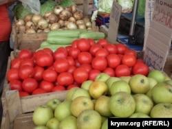 Овощной отдел российского магазина