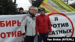 На акции протеста водителей в Красноярске